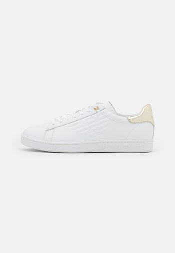 UNISEX - Matalavartiset tennarit - white/gold