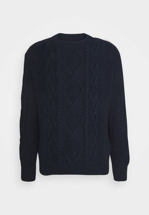 DIDRIK - Stickad tröja - indigo