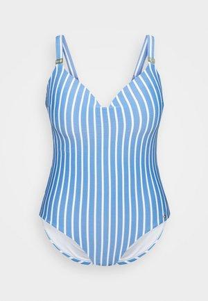STRIPES ONE PIECE - Swimsuit - blue
