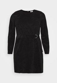 Noisy May Curve - NMMICK SHORT DRESS CURVE - Day dress - black - 4