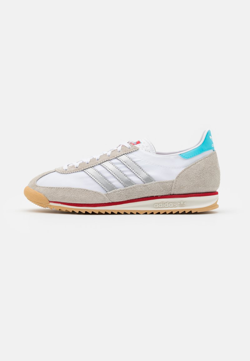adidas Originals - SL 72 UNISEX - Trainers - footwear white/metallic silver/grey one