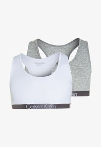 Calvin Klein Underwear - BRALETTE 2 PACK - Bustier - grey heather - 0