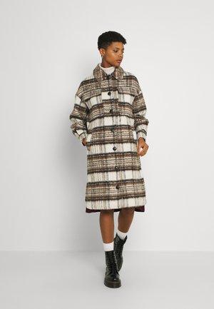 VMGEMMA CHECK LONG JACKET - Classic coat - bungee
