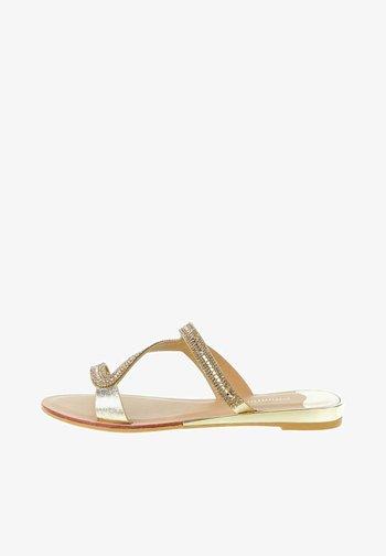 SAPPADA - T-bar sandals - platinum