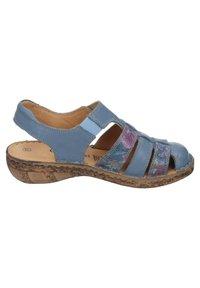 Comfortabel - Ankle strap ballet pumps - blau - 4