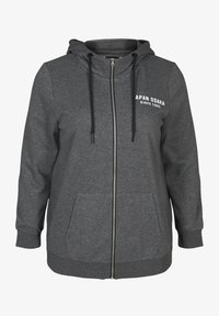 Active by Zizzi - Felpa aperta - dark grey - 3