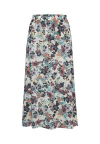 Soaked in Luxury - A-line skirt - vivid floral print white - 2