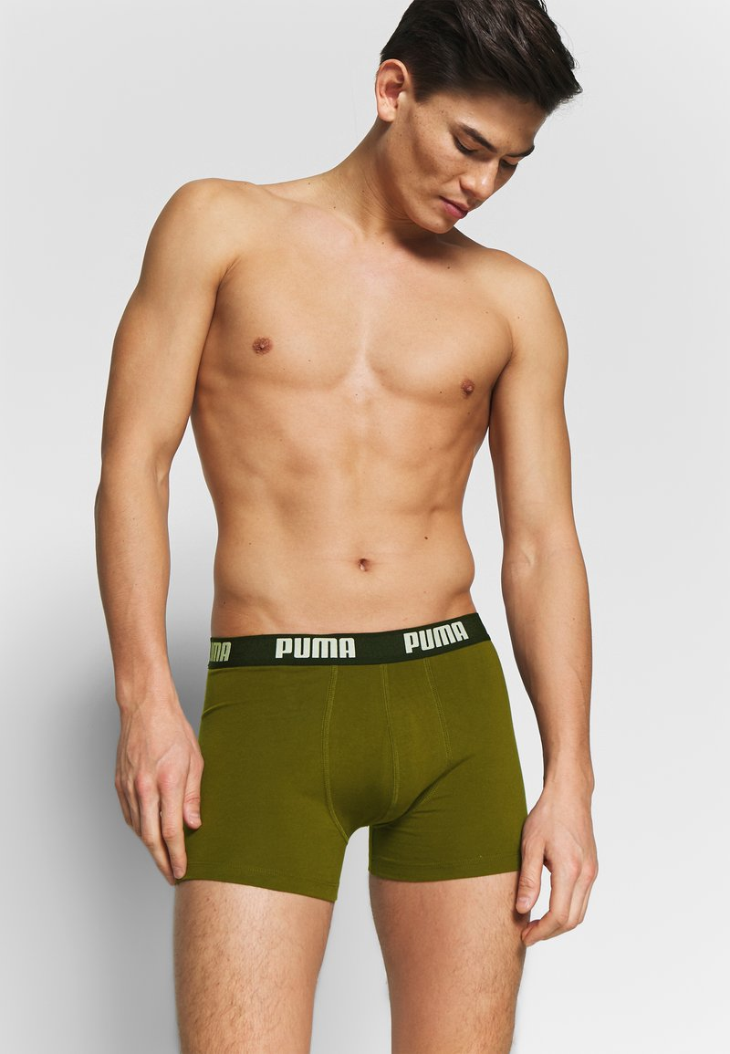 Puma - BASIC 2 PACK - Panties - grey/green