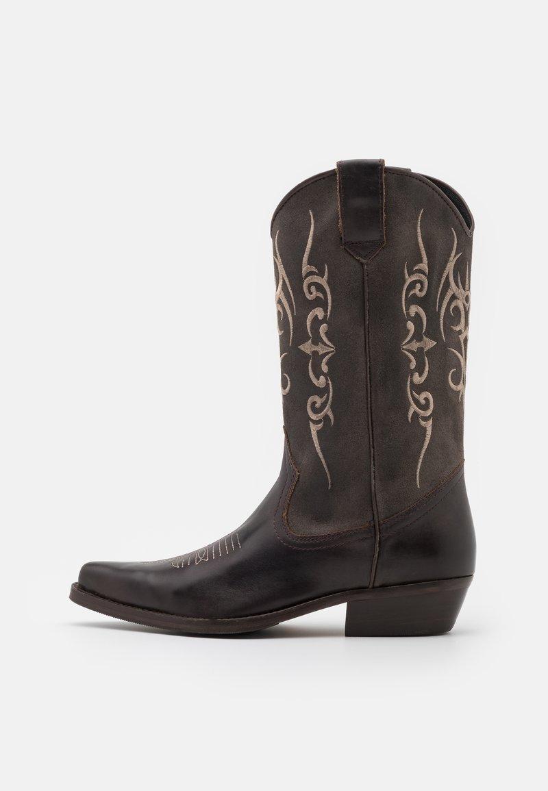 Kentucky's Western - UNISEX  - Cowboy/Biker boots - madison testa di moro/roc grey