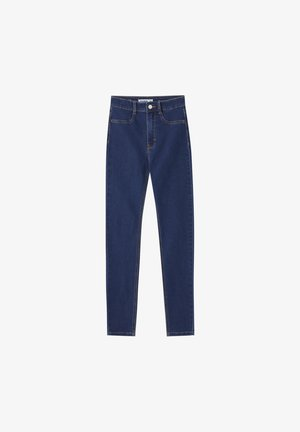 Jeansy Skinny Fit - dark-blue denim