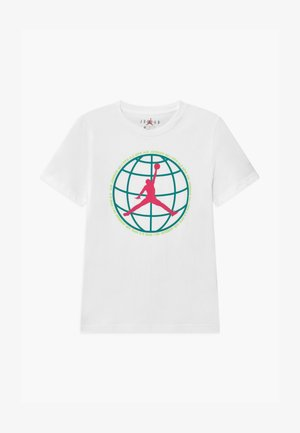 MOUNTAIN SIDE GLOBE UNISEX - Print T-shirt - white