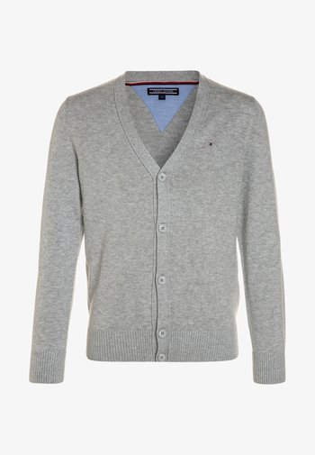 BOYS BASIC CARDIGAN - Cardigan - grey heather
