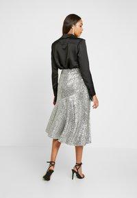 Monki - SKIRT - A-snit nederdel/ A-formede nederdele - silver - 2