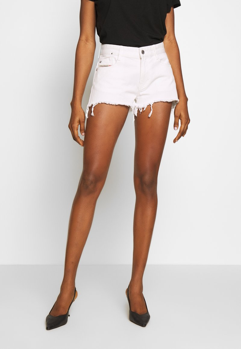 Diesel - RIFTY - Shorts di jeans - white