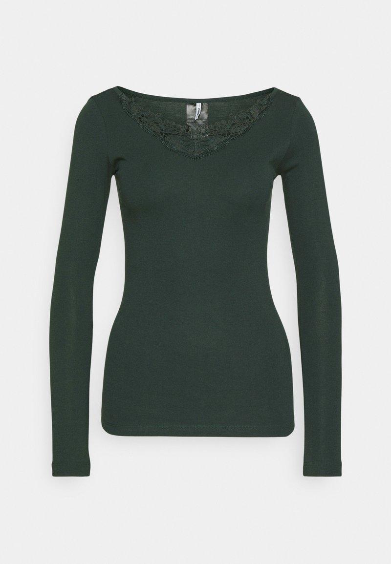 ONLY - ONLKIRA LIFE TOP  - Langærmede T-shirts - green gables