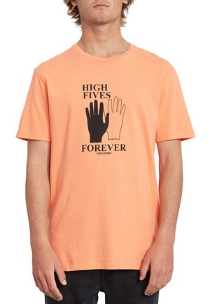 HIGH5 FOREVER LTW SS - T-shirt con stampa - orange