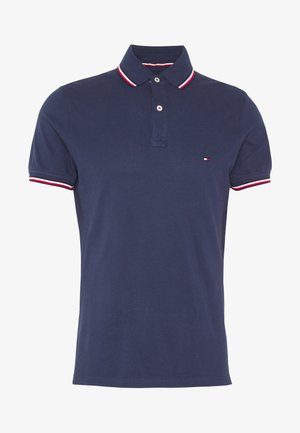 TIPPED SLIM FIT - Polo shirt - blue