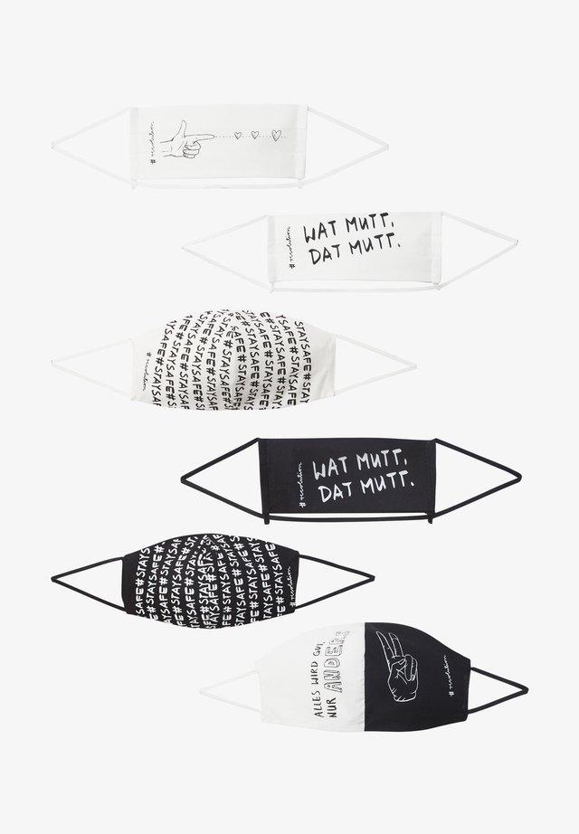 6 PACK - Community mask - schwarz/weiß