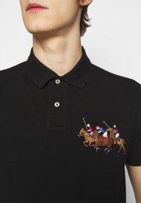 Polo Ralph Lauren - CUSTOM SLIM FIT TRIPLE-PONY POLO SHIRT - Koszulka polo - black - 4