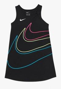 Nike Sportswear - GIRLS KNOT TANK DRESS - Vestito di maglina - black - 0