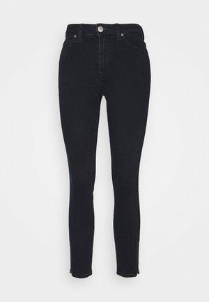 SCARLETT HIGH ZIP - Jeansy Skinny Fit - dark icon