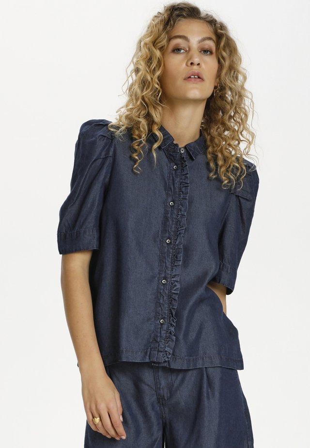 DHCALA - Button-down blouse - dark blue/ blue wash