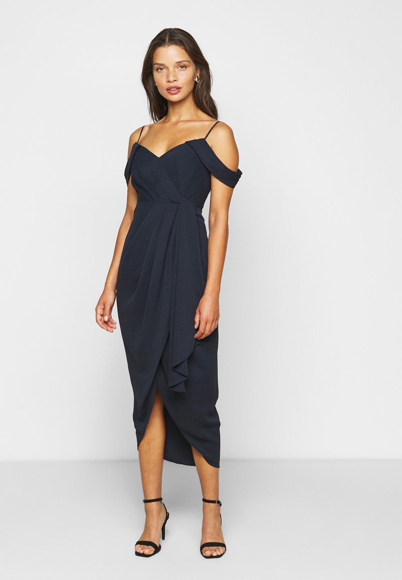 Forever New Petite - HADLEY WATERFALL MIDI - Cocktail dress / Party dress - navy