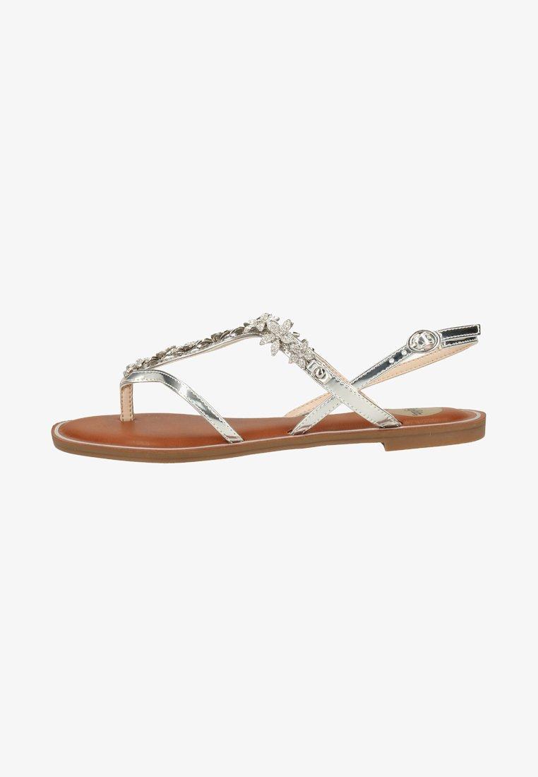 Buffalo - Sandály s odděleným palcem - silver