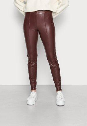 TERESA - Leggings - Trousers - burgundy