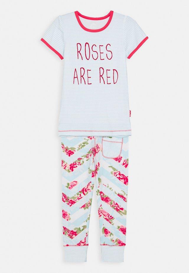 GIRLS ROSES - Pigiama - pink/light blue/white