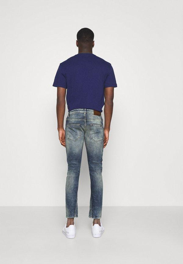 Tigha BILLY THE KID DESTROYED - Jeansy Slim Fit - vintage mid blue/niebieski Odzież Męska CHAX