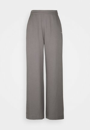 MYLA WIDE LOOSE PANTS - Pantalon classique - grey