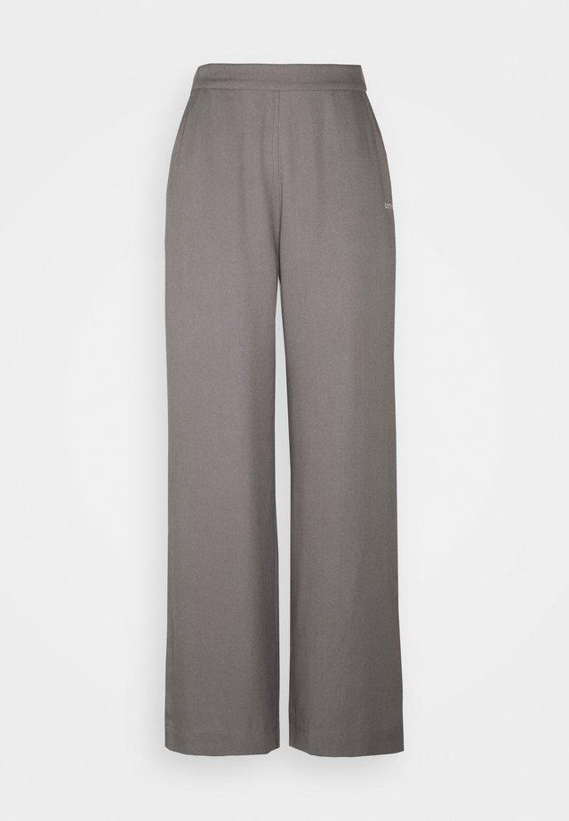 MYLA WIDE LOOSE PANTS - Pantaloni - grey