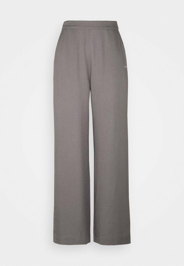 MYLA WIDE LOOSE PANTS - Pantalones - grey