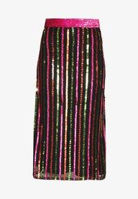 MANÉ - LAELIA SKIRT - A-line skirt - washed black/multi - 4