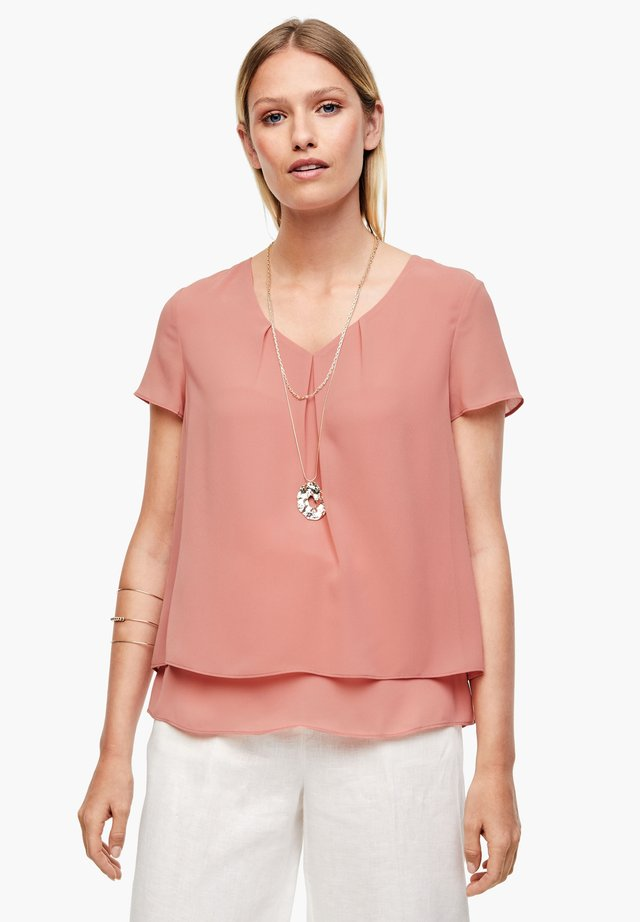 MIT LAYERING - Bluse - soft pink