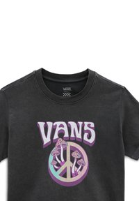 Vans - WM PEACE IN BLOOM ROLL OUT S/S - Print T-shirt - black - 2