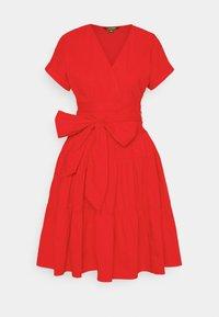 Lauren Ralph Lauren - JILARTA SHORT SLEEVE DAY DRESS - Vapaa-ajan mekko - bright hibiscus - 0