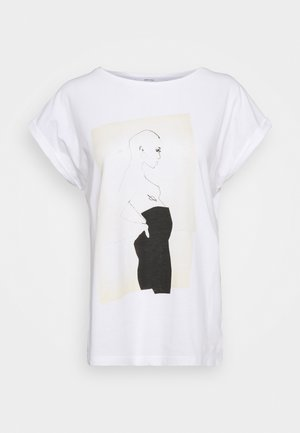 VISBY PANTS - Print T-shirt - white