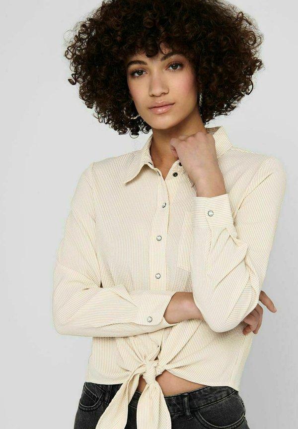ONLY Koszula - beige/beżowy CQMQ
