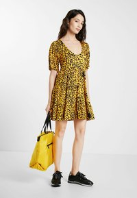Desigual - FLOUNCES - Day dress - yellow - 1