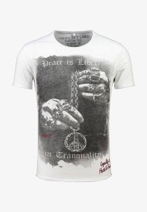AWAKE - Print T-shirt - weiss