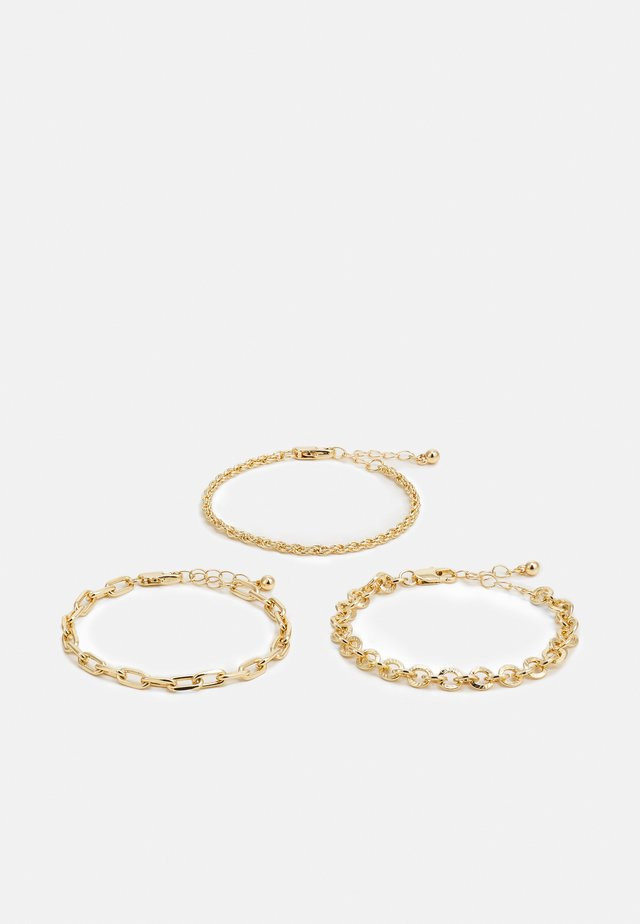 PCVILLA 3 PACK BRACELET - Armbånd - gold
