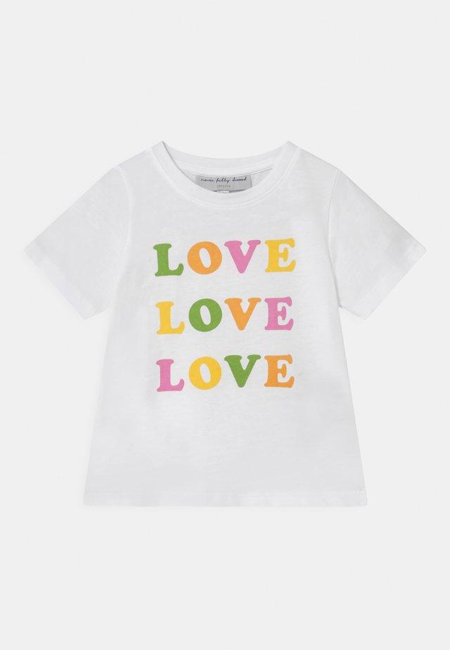 LOVE LOVE LOVE TEE - T-shirt con stampa - white
