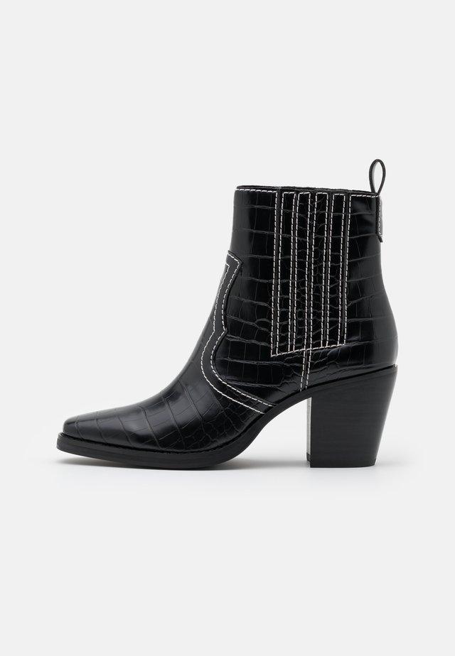 GENIVA - Classic ankle boots - black
