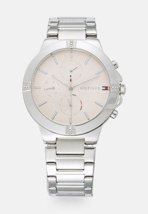 TALIA - Kronografklokke - silver-coloured/blush