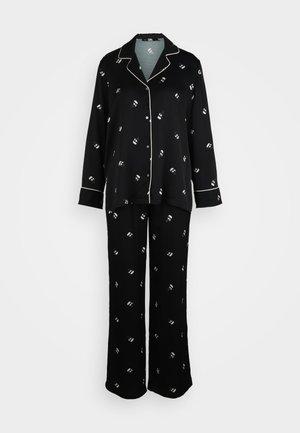 ALL OVER IKONIK SET - Pyjamas - black