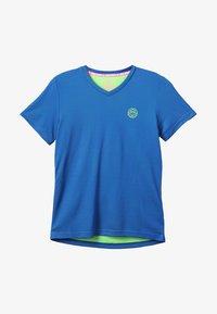 BIDI BADU - EVIN TECH ROUND NECK TEE - Printtipaita - blue/neon green - 3