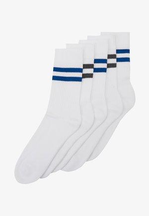 5 PACK - Strumpor - white/dark blue
