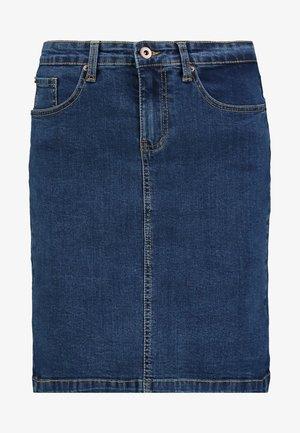 DENIM SKIRT PENCIL - A-snit nederdel/ A-formede nederdele - blue denim